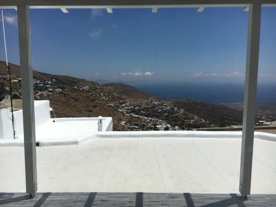 Photo for Hill-tone villa in traditional Cycladic style