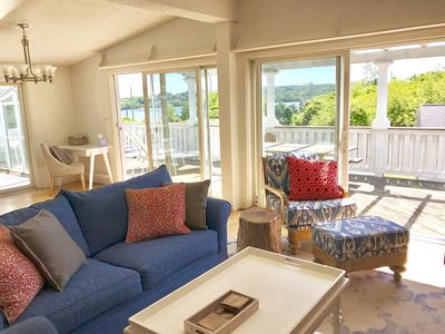 Photo for Beautiful & private 3-bdrm beach house w/ gunite pool, water & sunset views