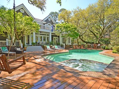 Photo for PREMIER Vanderhorst Home - AMAZING pool, hot tub, and easy walk to beach!
