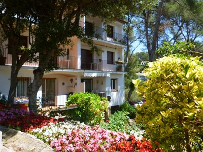 Photo for Lovely 2 bedroom apartment with parking at 400m of the amazing cove of Tamariu