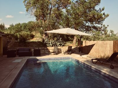 Photo for Comfortable villa, air-conditioned rooms, private pool, near Uzès
