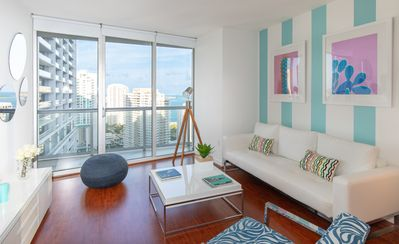 Photo for BRICKELL, OCEAN & POOL VIEW, 32 FLOOR, W RESIDENCES. FREE WI-FI, SPA, GYM, POOL