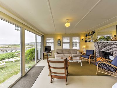 Photo for Waterfront West Yarmouth Cottage w/ Deck & Views!