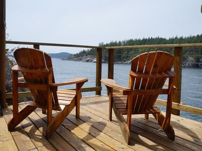 Photo for Oceanfront Cottage With Private Dock And Large Decks, Halfmoon Bay, BC