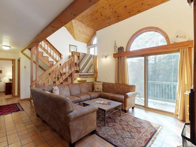 Photo for Charming, dog-friendly home w/ huge deck & game room - minutes to Okemo