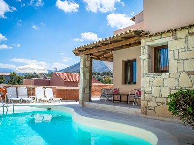 Photo for This 2-bedroom villa for up to 4 guests is located in Hersonissos and has a private swimming pool, a