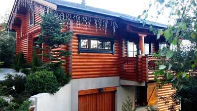 Photo for Les Angles, a Scandinavian log cabin classified 4 stars