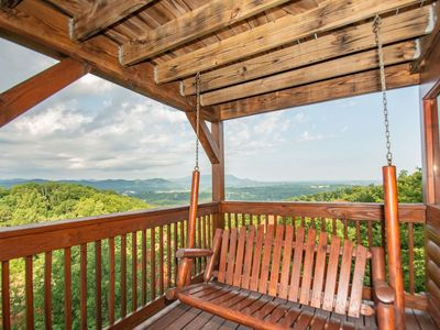 Photo for For Your Eyes Only ~ Panoramic Views, Foosball, Pool Table, Air Hockey, Hot Tubs, WiFi, Fireplace