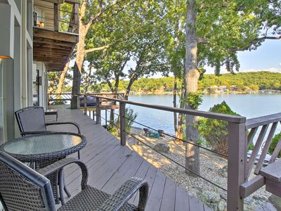 Photo for NEW! Waterfront Sunrise Beach Home w/Hot Tub & Dock