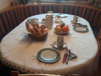 Photo for Comfort room with balcony and breakfast - Ferienwohnung Greim