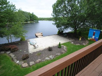 Photo for Lake Front w/Private Beach - 4 Paddleboards & Canoe & Kayak & Row Boat & Fire Pi