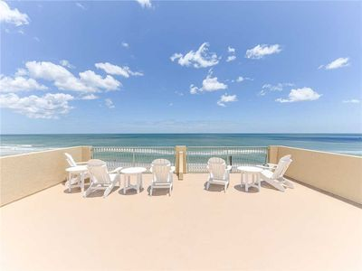 Welcome to Wave Watch, Your Oceanfront Vacation Site - Gaze out on the Atlantic Ocean from the rooftop deck. The ocean breezes feel spectacular.