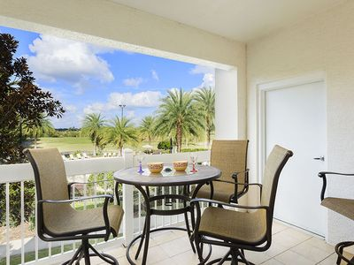 Photo for July sale! 10 min to Disney 5* Luxury Apt Amazing Pool & Golf view-Wi-f