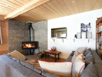 Photo for GRAND CHALET ALPAGE COMFORTABLE ON THE SKI SLOPES WITH SAUNA