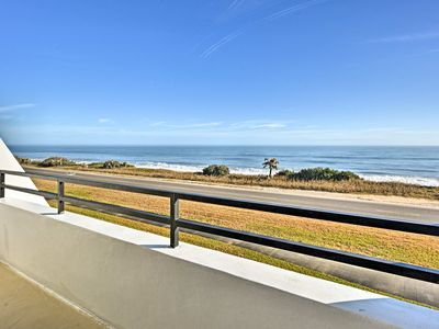 Photo for Romantic Oceanfront Townhome-Walk to Flagler Beach