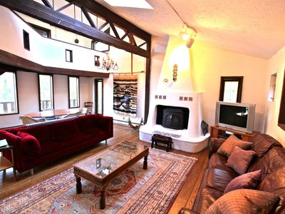 Photo for Gorgeous Woodstock Chalet + Hot Tub, optional Guest House, Sleeps 12-16