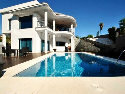 Photo for Luxury Modern Villa with Private Pool in Benalmadena close to beach and train
