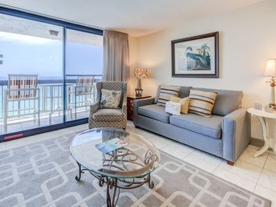 Photo for Spacious gulf-front condo, On-site pools with hot tub and splash pad