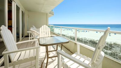 Photo for **July 27 - Aug 3 Available**BEACH FRONT Condo*Huge Balcony*Small Dog OK