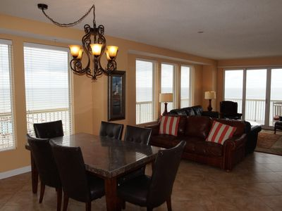 Photo for Beach Front, End Unit on 6th Floor with With Large Wrap Around Patio!  3 BR/2