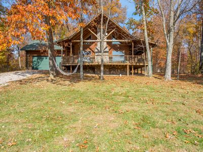 Photo for Luxurious pet friendly 3 bedroom, 3 bath cabin with 3 levels of living space!
