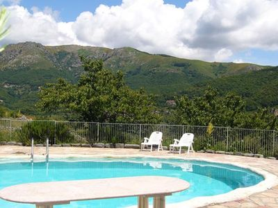 Photo for Holiday house with swimming pool with a broad view
