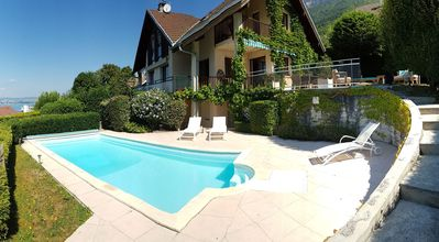 Photo for Lake Annecy villa, wide views of the lake and mountains in the heart of Veyrier