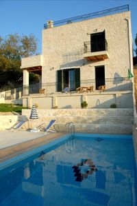 Photo for private swimming pool, 3 bedrooms, 2 baths, stone house