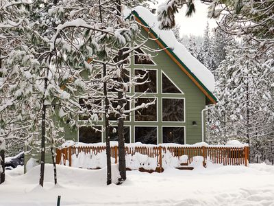 Photo for NEW LISTING! Cabin on 10 acres w/ deck - near hiking & Lake Wenatchee, 2 dogs OK