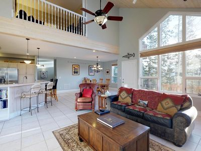 Photo for Large, secluded lodge with privat hot tub, deck, views - year-round outdoor fun!