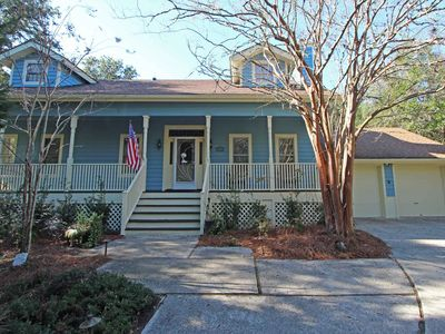 Photo for Three-bedroom on lovely wooded lot in Wild Dunes, just two blocks to beach!