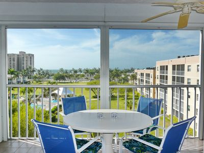 Photo for Peaceful, west-facing condo w/ hot tub, heated pool & short walk to beach