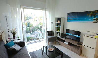 Photo for NEW!!! Bright and spacious apartment 2min to the BEACH with PARKING!