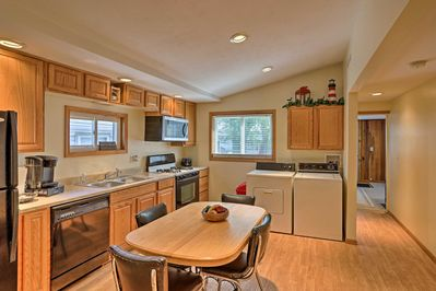 Dine in with the fully equipped kitchen available to you.