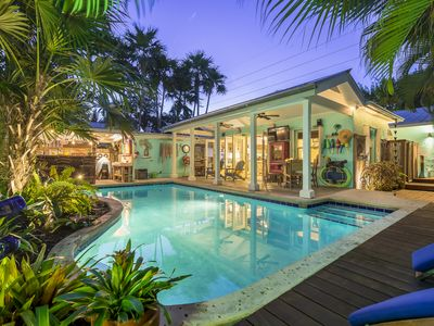 """Photo for """"BAREFOOT BUNGALOW""""~2 Bedroom, 2 Bathroom Home with Pool and Tiki Hut!"""