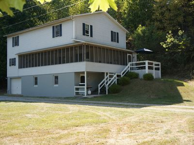 Photo for Look No Further! Cozy, spacious riverfront getaway with private dock & mtn views