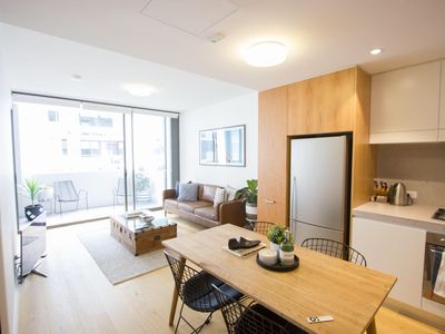 Photo for New Apartment + Carspace (LONG TERM STAYS WELCOME) - Two Bedroom Apartment, Sleeps 4