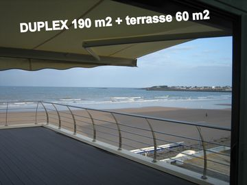 DUPLEX 190m2 + 60m2Terrasse- MER face -on BEACH, 5 to 10 Persons