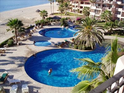 Photo for Beautiful beachfront Los Cabos condo with spectacular views
