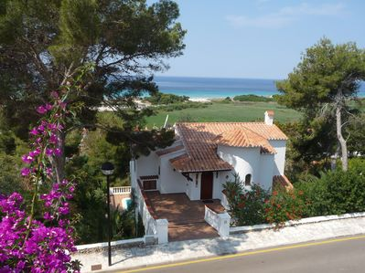 Our Villa with fantastic panoramic sea views.