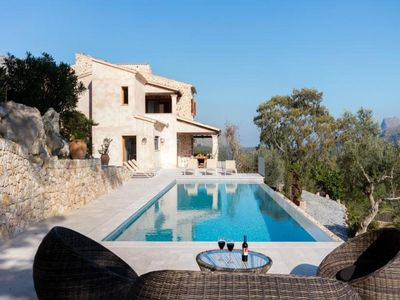 Photo for 5 Bedroom Villa with Spectacular panoramic views close to Pollenca