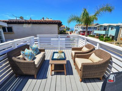 Photo for Well, Hello Beautiful! Newly-Remodeled Upstairs Unit - Half Block to Beach!