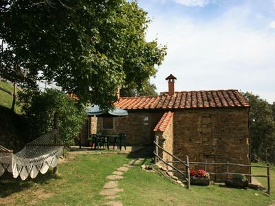 Photo for Ancient stone farmhouse for 5 people with private garden and swimming pool. Fully fenced. Nestled in
