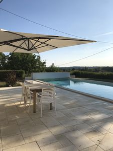Photo for Stone house 4 bedrooms, 9 people, with pool south charente
