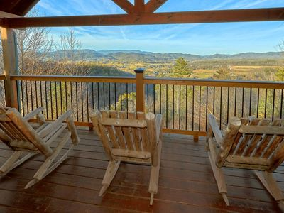 Photo for Oct 27-31 @ $275/nt~Private Cabin, 4 KG Master Suites, Lovely Mtn & Valley View