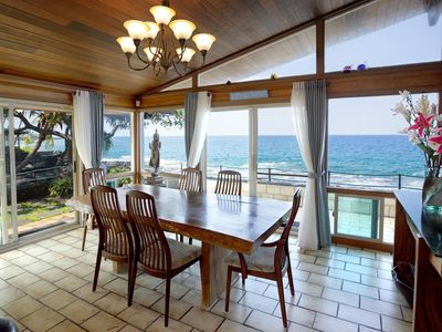 "Photo for Summer Special $333 per night-  - Beautiful Oceanfront ""private beach"" Air con"
