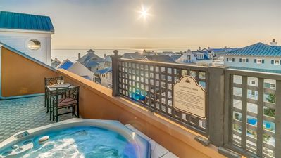 Photo for Penthouse Rosemary Beach Condo w/ Rooftop Hot Tub, Gulf Views, Bikes, Downtown!