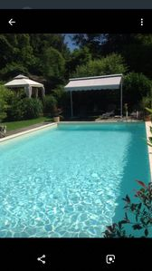 Large private swimming pool and terrace
