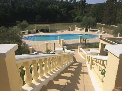 Photo for Large villa for 12 people greenery and pool near the beaches of Le Lavandou