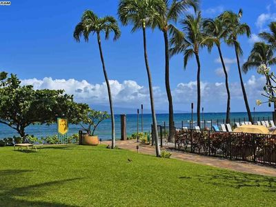 Photo for Oceanfront at Ka'anapali Shores. Step right out to the Ocean!